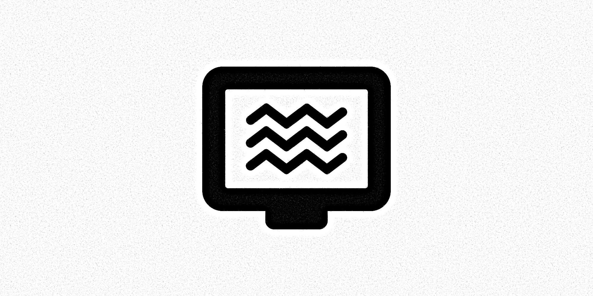 Grafische Darstellung eines Bildschirms mit Signalstörung.
